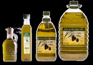 Botellas de Aceite de Oliva Virgen Extra