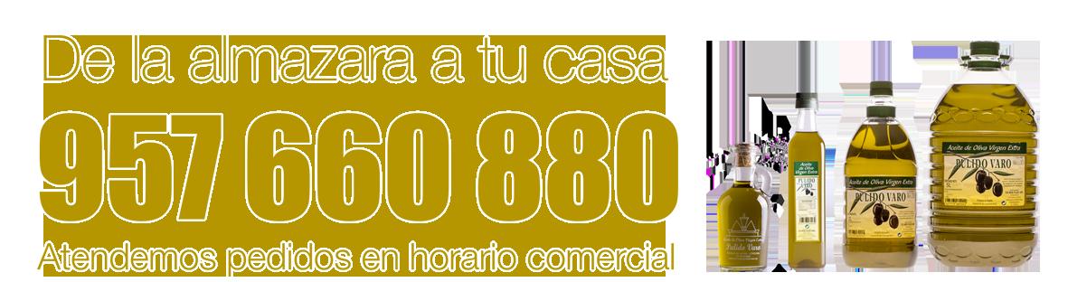 Pedidos a través del teléfono 957 660 880